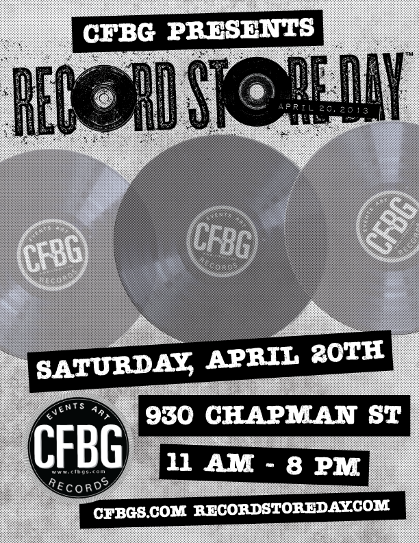 CFBG Record Store Day