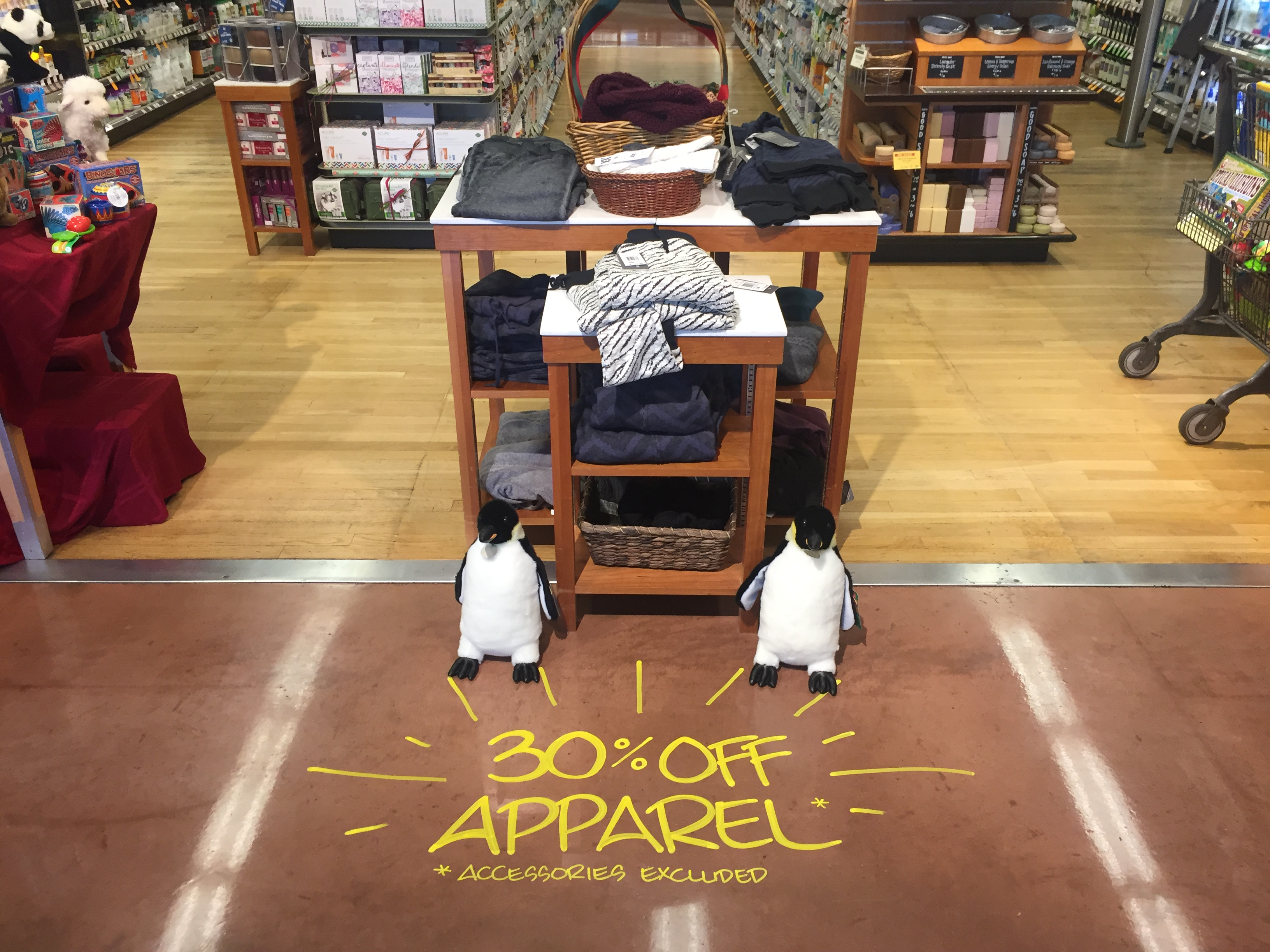 Apparel Sale Floor Art